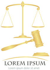 scales of justice & hammer of justice
