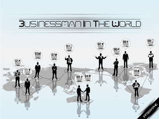 BUSINESSMAN CONCEPT  WORLD