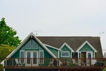 Green seaside house