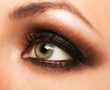 Closeup of womanish eye with makeup