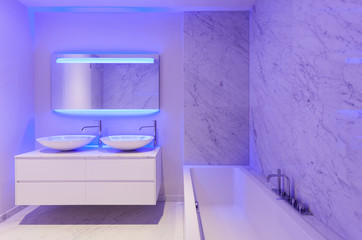 beautiful modern bathroom, marble wall