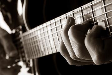 playing jazz guitar