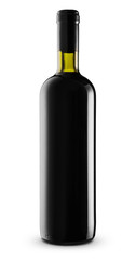 Bottle red wine -Clipping Path