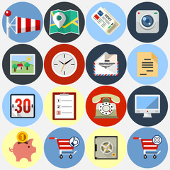 vector flat icons for web and application set 4
