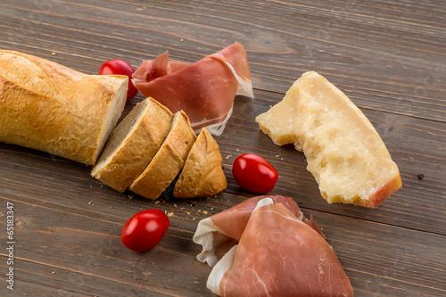 Wecken aus weißem Brot