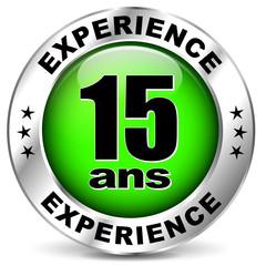 quinze ans d'experience