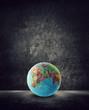 world globe on ground