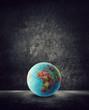 africa globe on ground