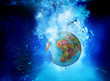 africa globe underwater