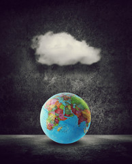 cloud over world