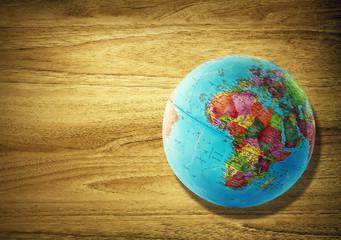 africa globe desk