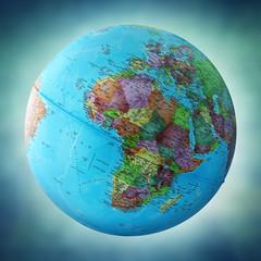 africa on globe