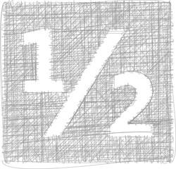 half sign - Freehand Symbol