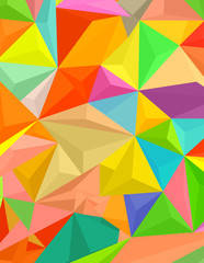 Abstract colorful triangular & polygonal shapes background