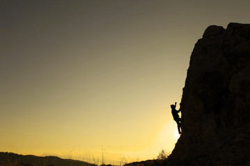 gündoğumu kaya tırmanışı