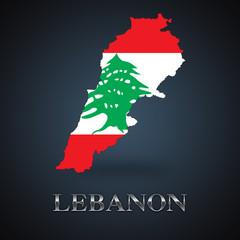 Lebanon map - Lebanese map