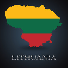 Lithuania map - Lithuanian map