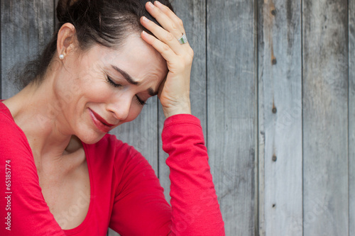 Close-up of crying woman - 65185774