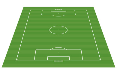 football field 3-D background - vector illustration