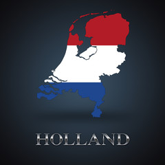 Holland map - dutch map