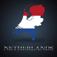 Netherlands map - dutch map