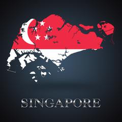 Singapore map - Singaporean map