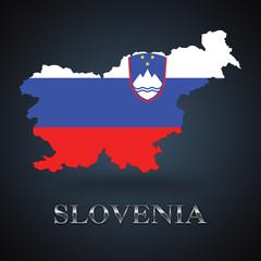 Slovenia map - Slovene map