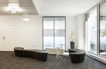 Interior, empty hall in modern building
