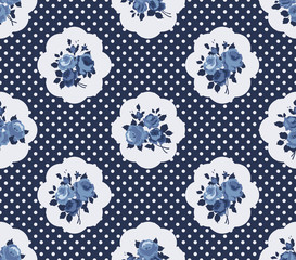 Cottage chic roses pattern