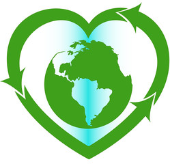 love Earth eco oriented sign