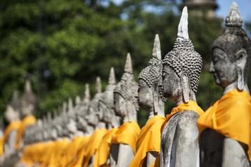 Buddha Status at Wat Yai Chaimongkol, Ayutthaya, Thailand