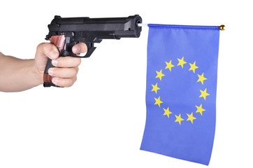 gun is loaded EU flag