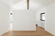 beautiful modern loft, white room