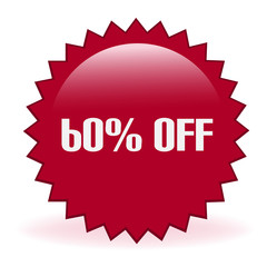 Sixty Percent Off Discount Sticker