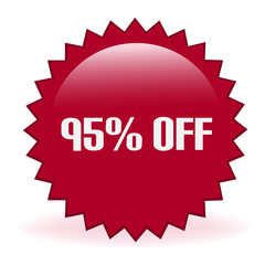 Ninety Five Percent Off Discount Sticker