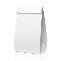 Recycle white paper bag
