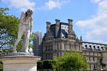Landscape in the Tuileries in Paris