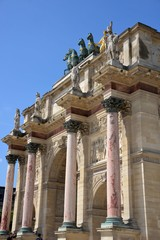 Triumphal arch in the Tuileries in Paris