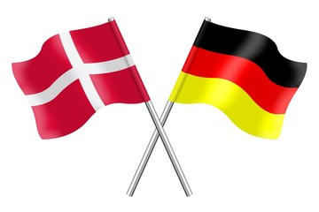 Flags : Denmark and Germany