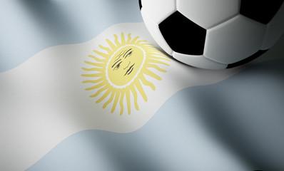 Argentinian flag, football