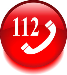 Emergency call icon red sticker