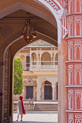 Decorated archway at the City Palace, Jaipur