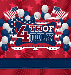 4th of July Design. Vector illustration.