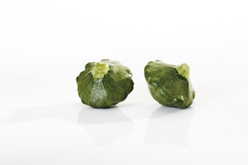 Grüne Pattypan Kürbisse