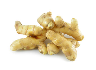 white turmeric isolated on white background