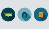 Fototapety University icons set