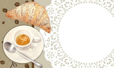 colazione con caffè e cornetto