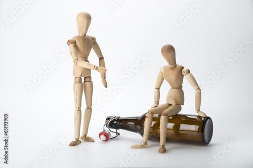 Leinwanddruck Bild Alkoholsucht