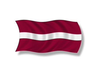 Illustration,Flagge von Lettland
