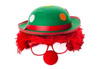 clownskostüm mit Perücke